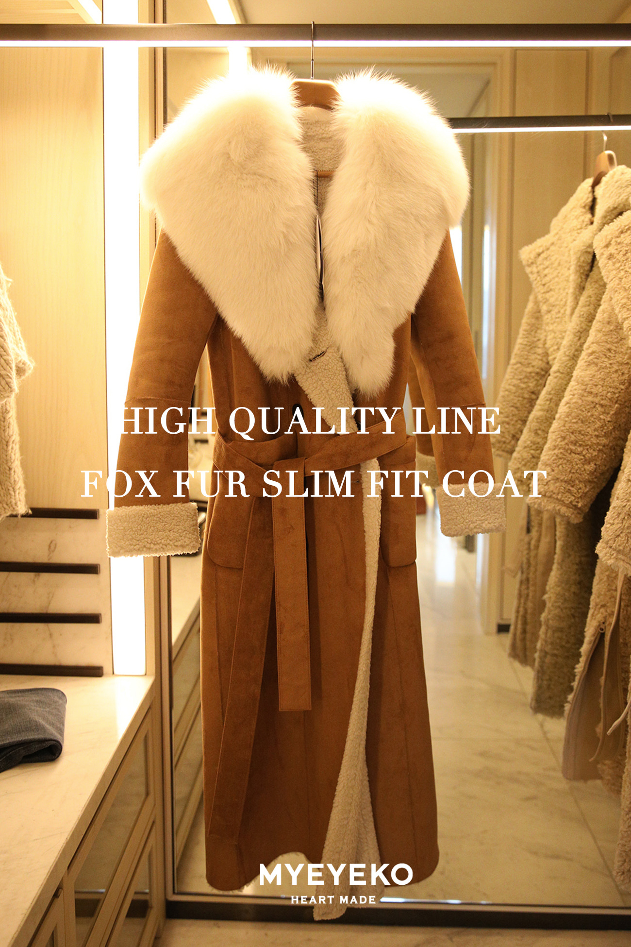 HIGH QUALITY LINE - FOX FUR SLIM FIT COAT (~Reorder 1/9 발송 예정)