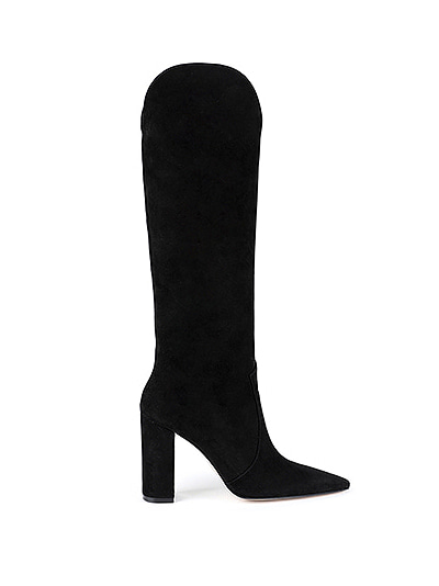 Slouchy  knee-high suede boots 이태리 실크 스웨이드  (5cm,7cm,9cm)