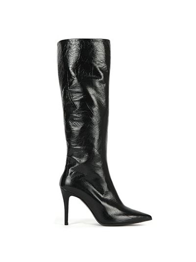 Suzan Leather Knee Boots (7cm, 9cm) - black