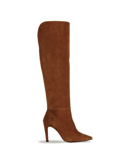 Over The Knee Suede Boots (7cm, 9cm) - CAMEL