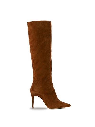 Suzan Leather Knee Boots (7cm, 9cm) - CAMEL