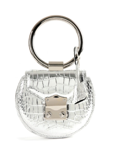 Myeyeko Exclusive Line - LOVE Madelein Bag 마들렌백 / SILVER CROCODILE