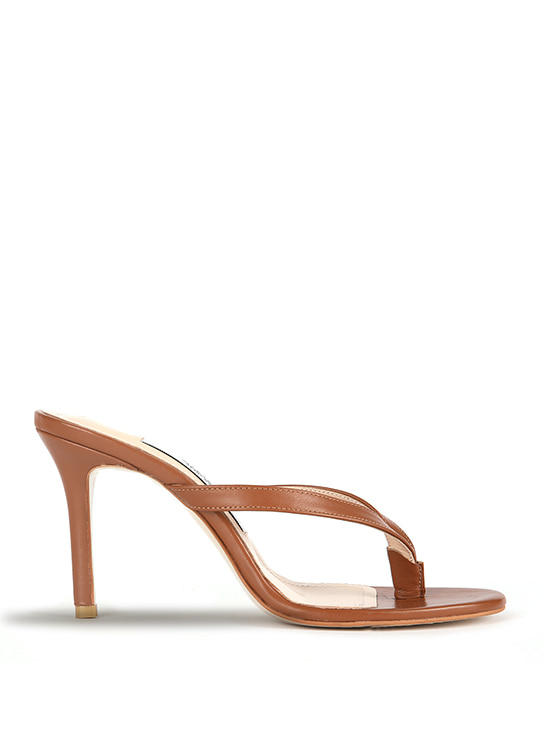 SO BASIC Leather Sandals - Camel Brown