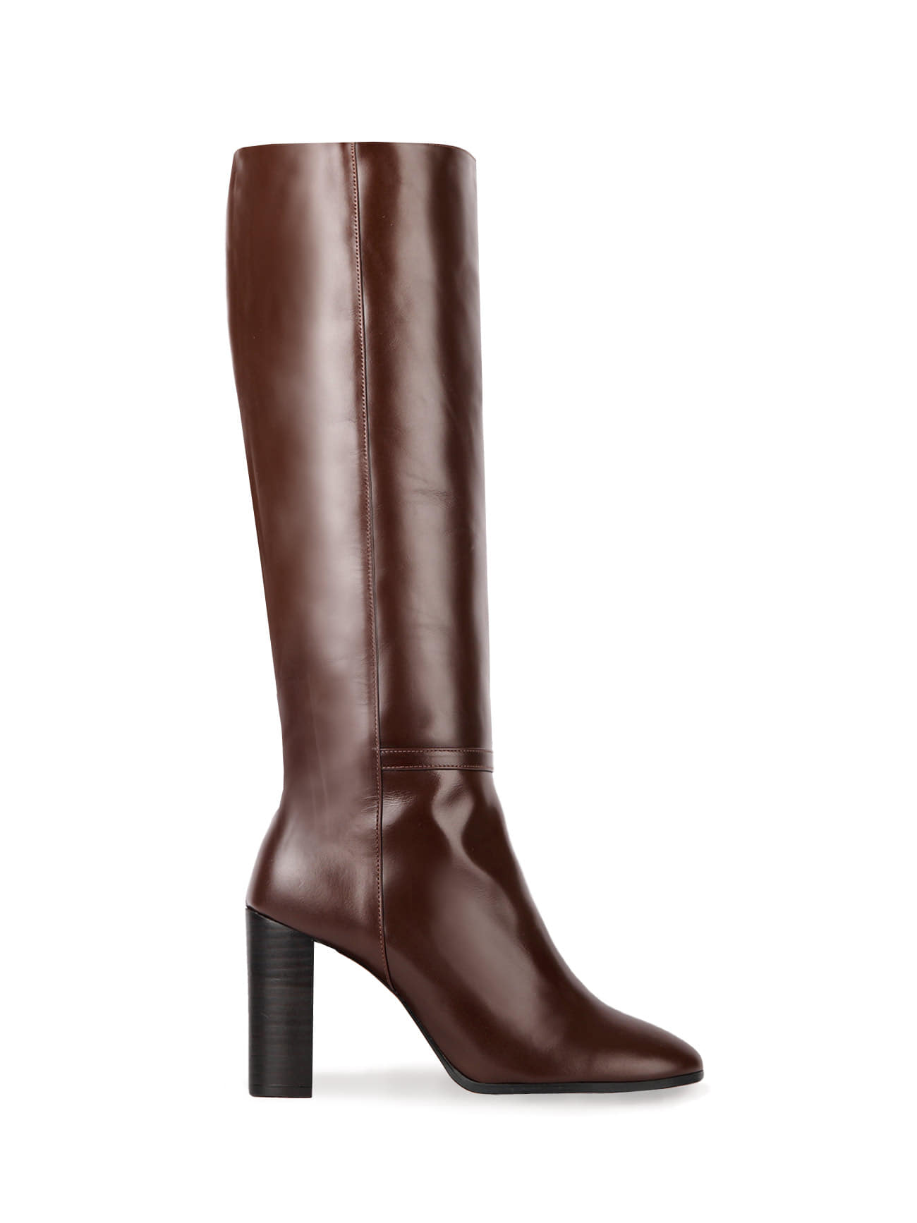 KATE LEATHER KNEE BOOTS (7cm, 9cm) - CHOCO