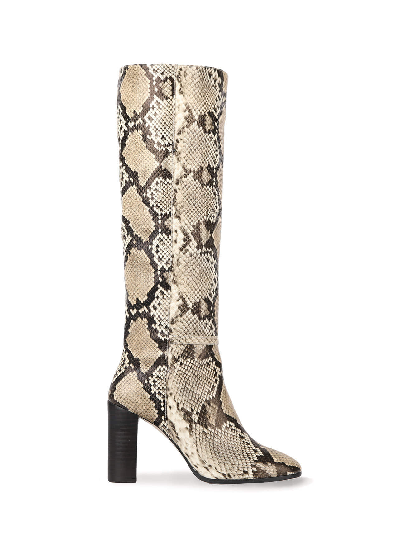 KATE LEATHER KNEE BOOTS (7cm, 9cm) - PYTHON