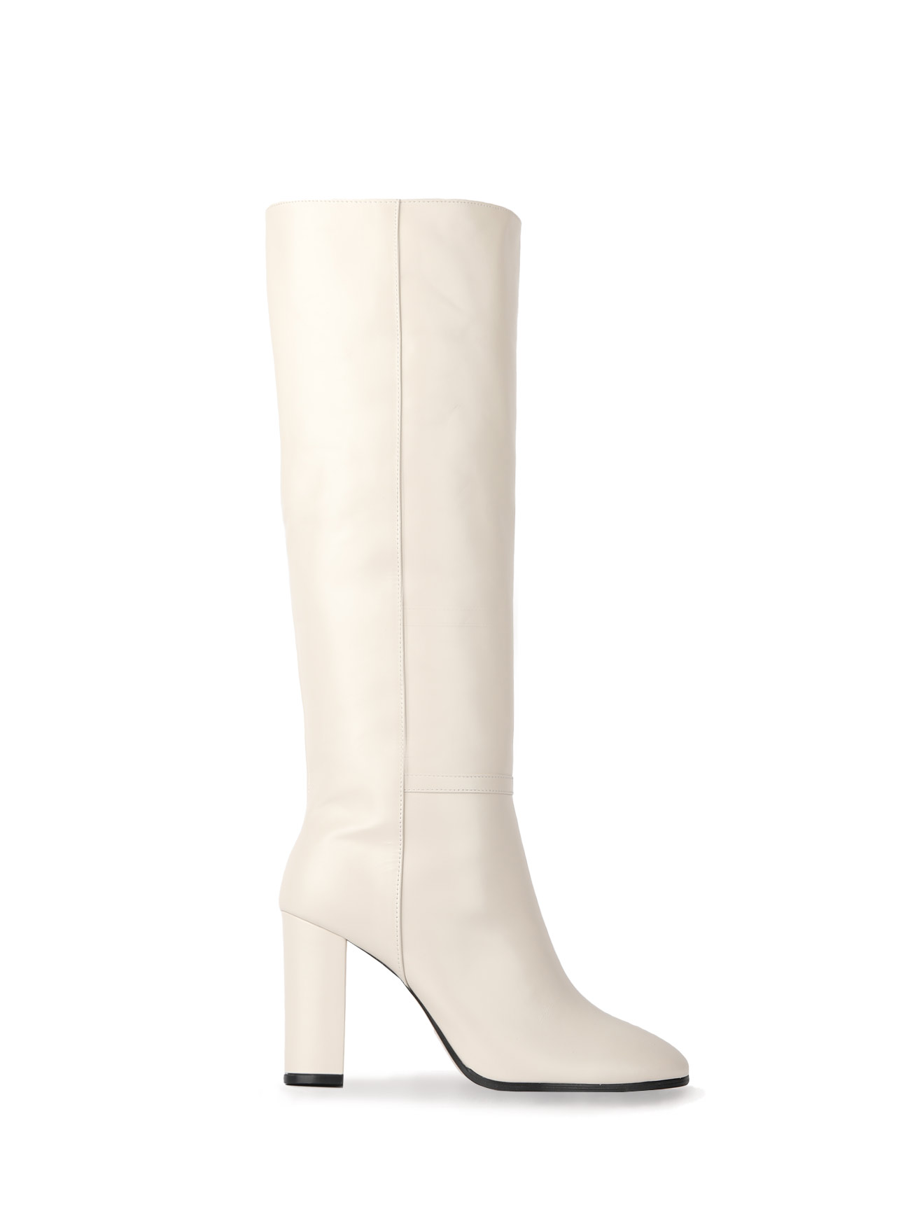 KATE LEATHER KNEE BOOTS (7cm, 9cm) - IVORY