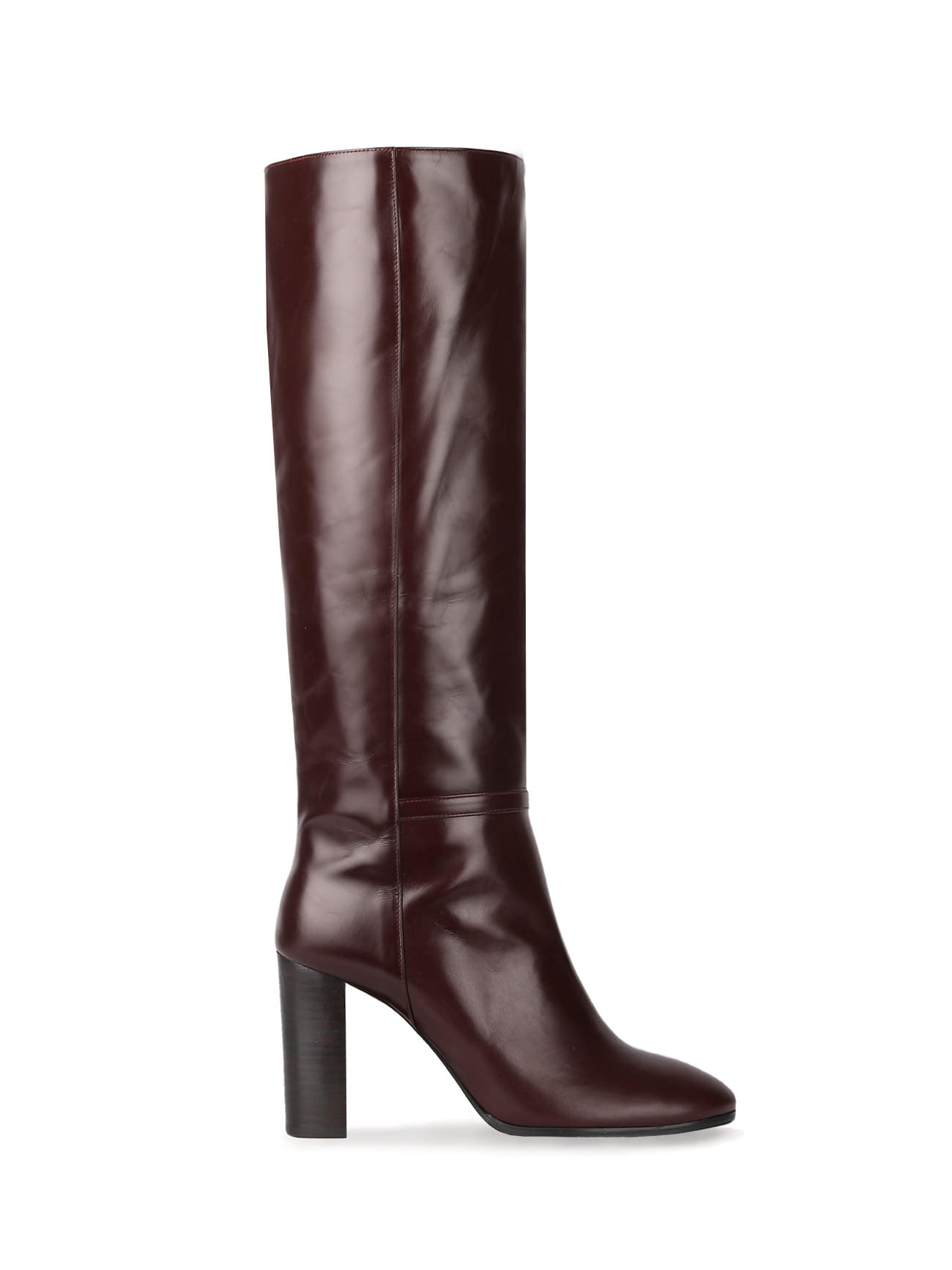 KATE LEATHER KNEE BOOTS (7cm, 9cm) - WINE