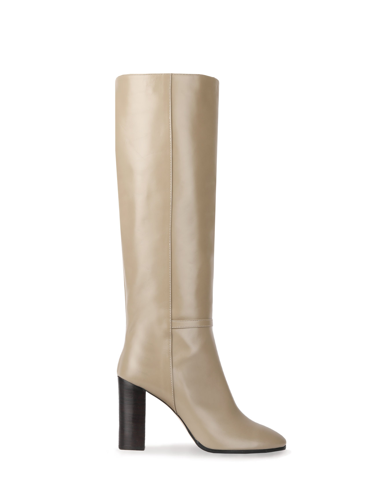 KATE LEATHER KNEE BOOTS (7cm, 9cm) - OLIVE