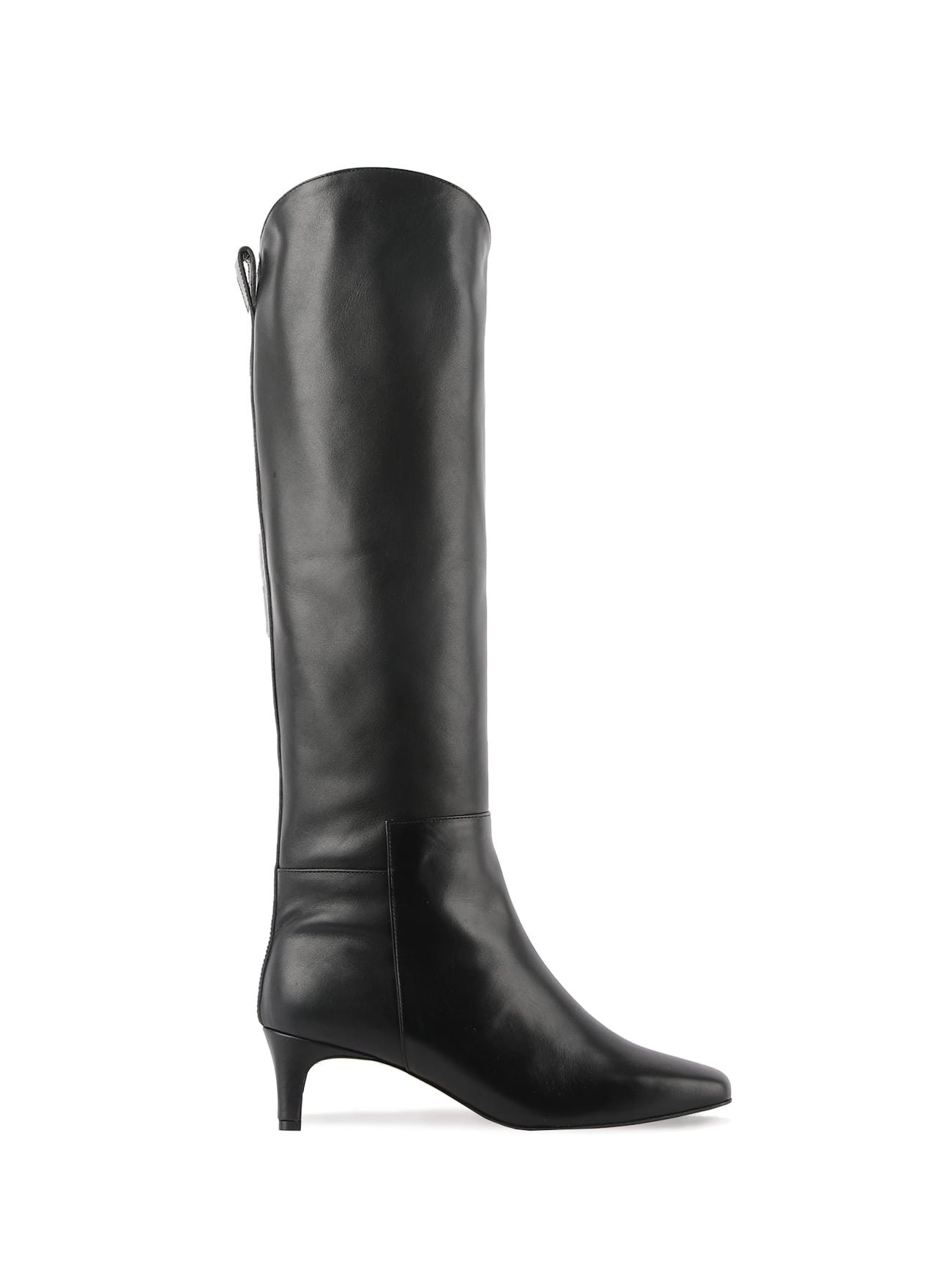 JAMES SQUARE-TOE KNEE-HIGH BOOTS (5cm)