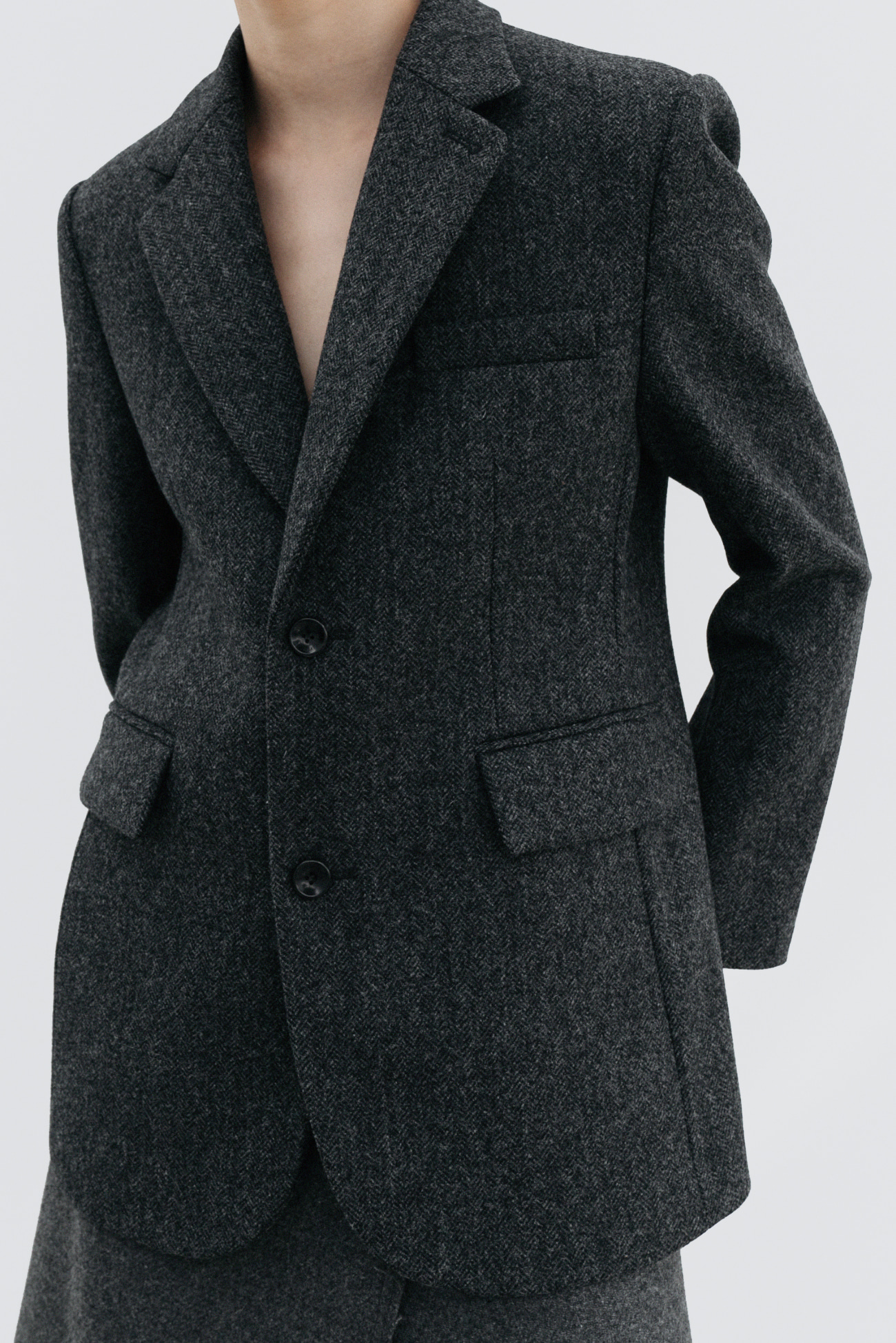 HIGH QUALITY LINE - Abraham Moon Tweed Jacket (GRAY)