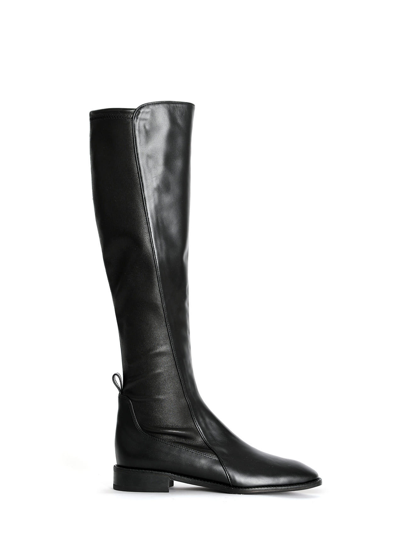 JACKSON LEATHER KNEE-HIGH BOOTS - BLACK (4cm)