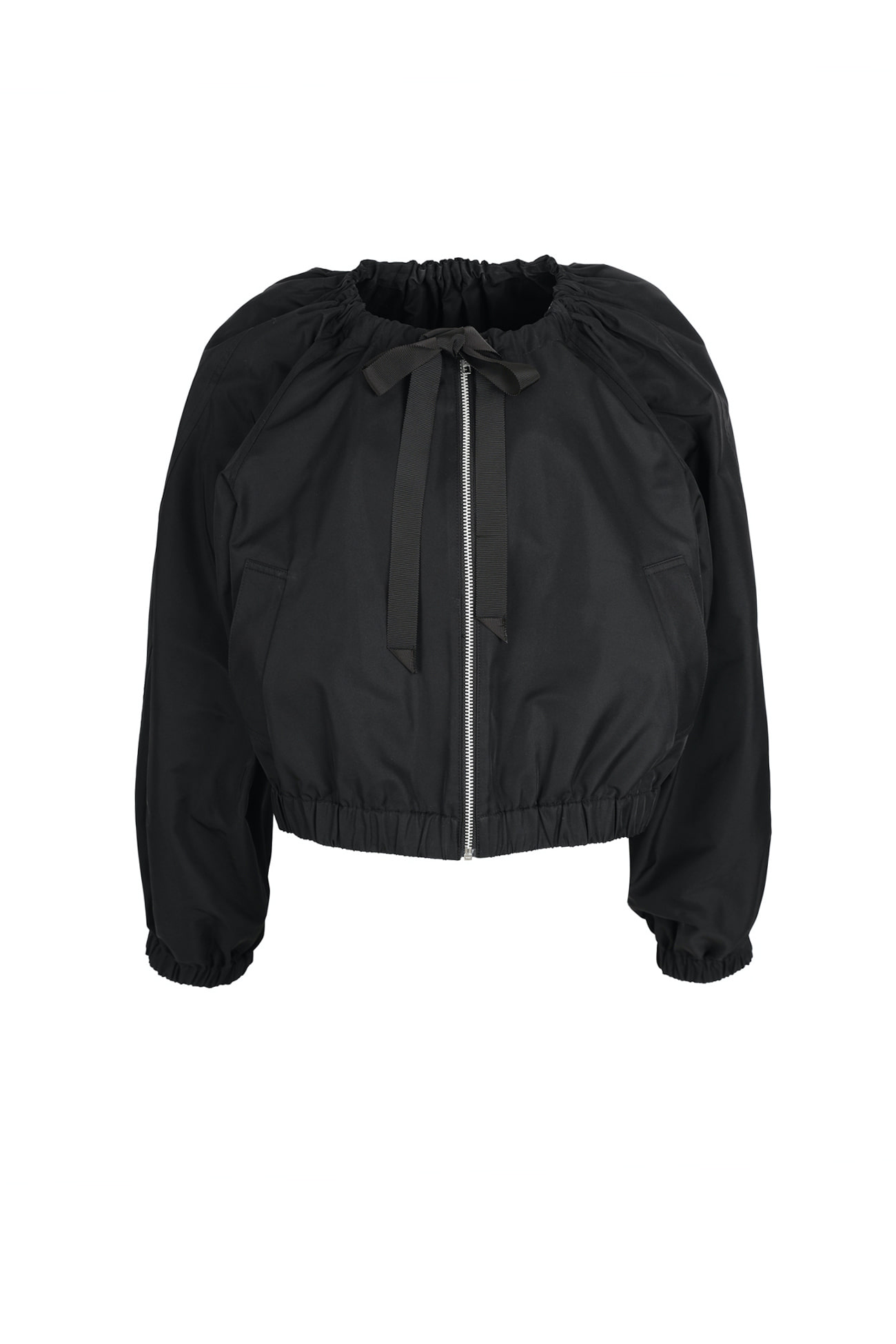 HIGH QUALITY LINE - Black classic bomber Jacket