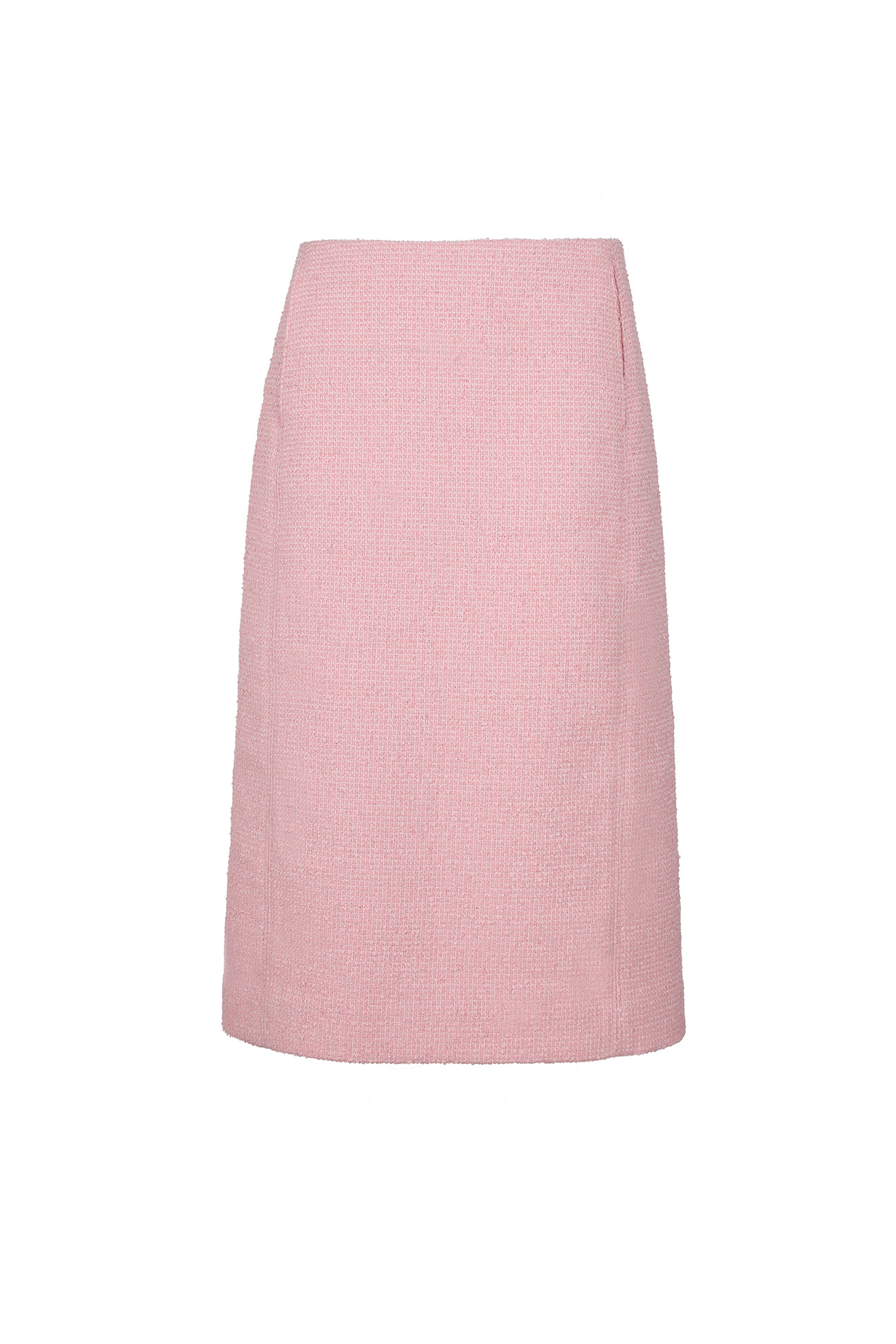 HIGH QUALITY LINE - PINK Tweed Boucle Midi Skirt (made fabric)