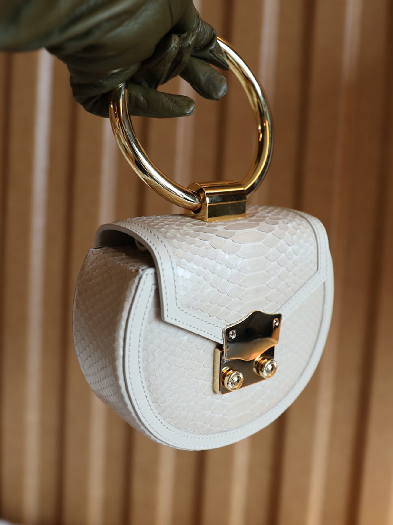 Myeyeko Exclusive Line - LOVE Madelein Bag 마들렌백 / BEIGE PYTHON
