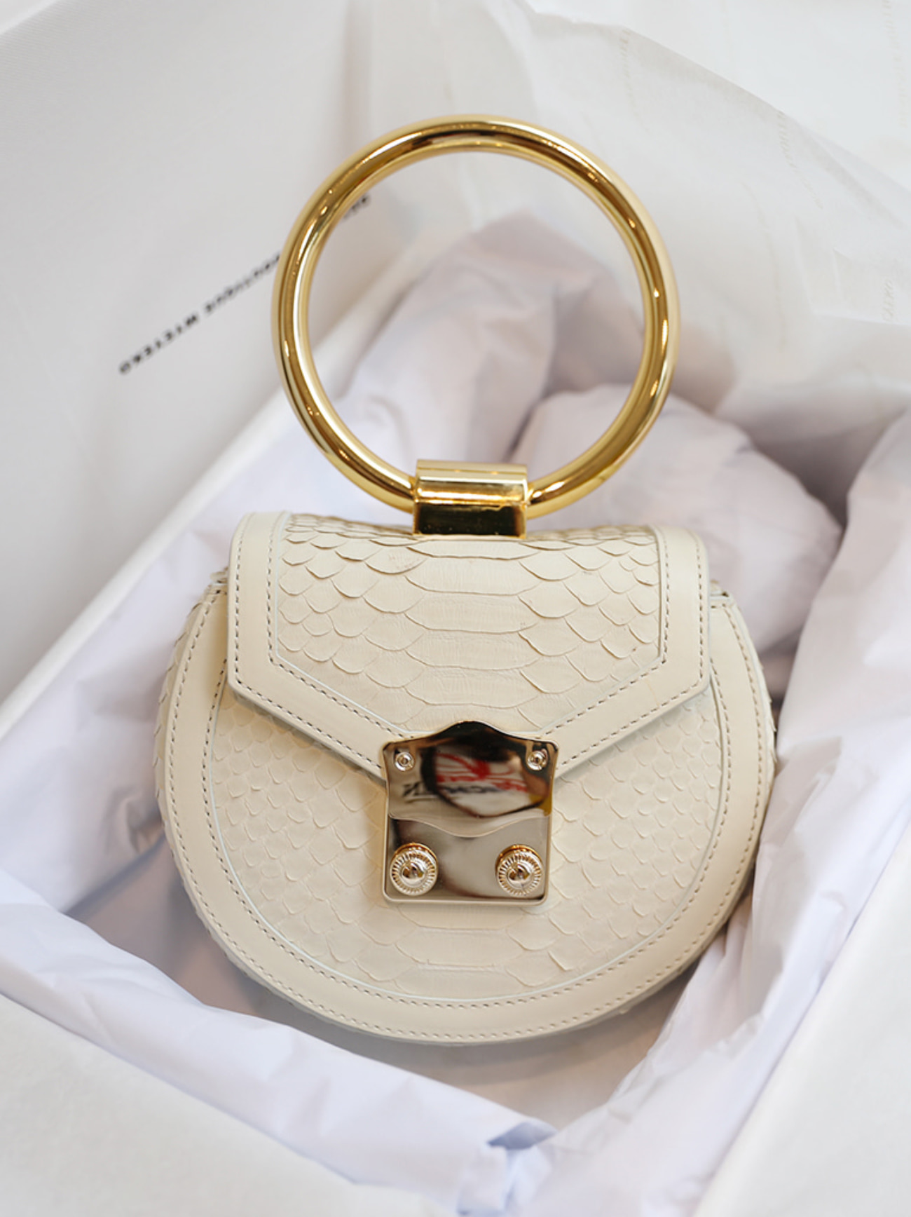 Myeyeko Exclusive Line - LOVE Madelein Bag 마들렌백 / CREAM IVORY PYTHON